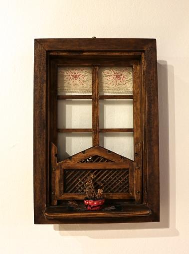 Representation of a traditional Bosnian window, on loan from Sefika Varajic
