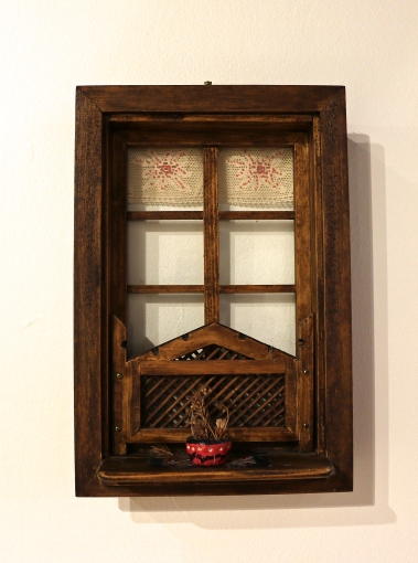Representation of a traditional Bosnian window, on loan from Sefika Varajic